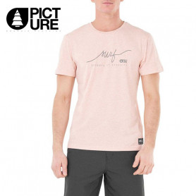 T-shirt PICTURE ORGANIC Signature Rose Homme