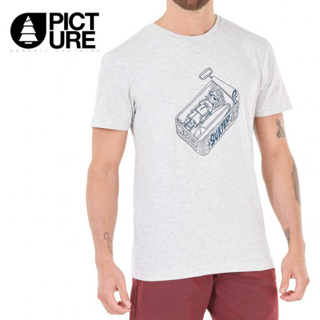 T-shirt PICTURE ORGANIC Tricana Gris Homme
