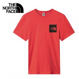 T-shirt THE NORTH FACE Fine Rouge Orangé Homme