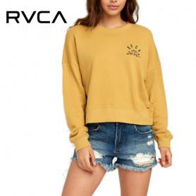 Sweat RVCA Rose State Camel Femme