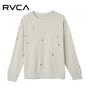 Sweat à capuche RVCA Changes Gris Femme