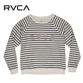 Sweat RVCA Arc Crew Blanc / Bleu Femme