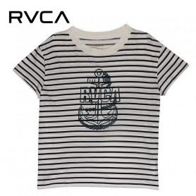 T-shirt RVCA Safe Harbor Tee Blanc / Bleu Femme