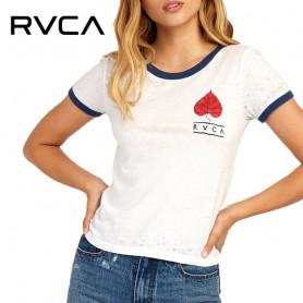 T-shirt RVCA Foliage Blanc Femme