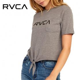T-shirt RVCA Big RVCA Gris Femme