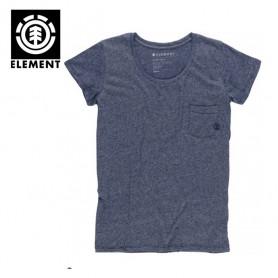 T-shirt ELEMENT Elba Bleu Femme