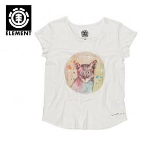 T-shirt ELEMENT Space Cat Crème Femme