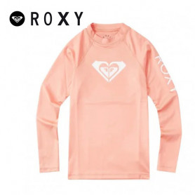 T-shirt U.V. ROXY Whole Heart Abricot Fille