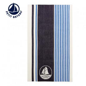 Serviette de plage PETIT BATEAU Marshmallow Bleu Unisexe