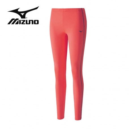 Collant long MIZUNO Drylite Core Long Tights Corail Femme