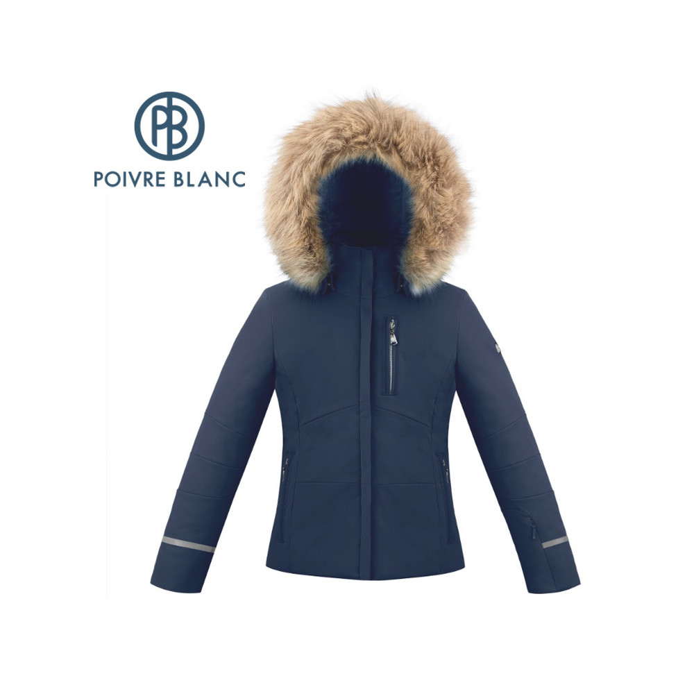 Blouson de ski POIVRE BLANC W19-0802 JRGL/A Bleu Fille