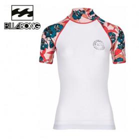 T-shirt U.V. BILLABONG Flower SS Blanc Femme
