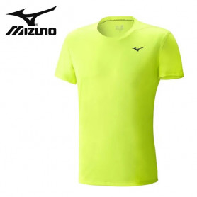 Tee-shirt MIZUNO Drylite Promo Jaune fluo Unisexe