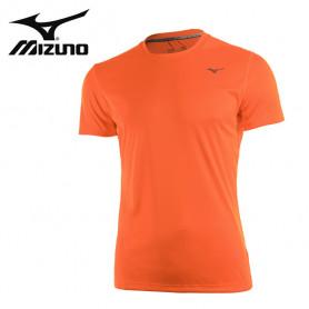 Tee-shirt MIZUNO Drylite Promo Orange fluo Unisexe