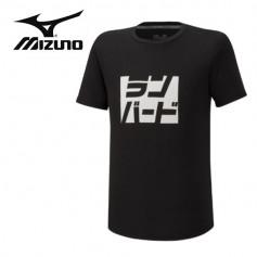 Tee-shirt MIZUNO Athletic Runbird Noir Hommes