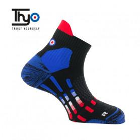 Chaussettes de Trail THYO Pody Air Tricolore Unisexe