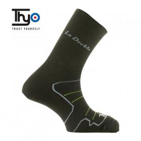 Chaussettes de randonnée Thyo La Double Authentic Noir Unisexe