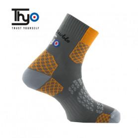 Chaussettes de randonnée Thyo La Double Trek II Orange Unisexe