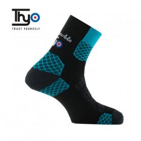 Chaussettes de randonnée Thyo La Double Trek II Bleu Unisexe