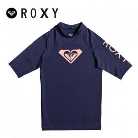 T-shirt U.V. ROXY Whole Heart Bleu marine Fille