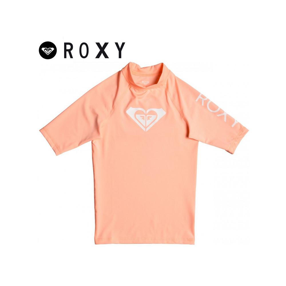 T-shirt U.V. ROXY Whole Heart Abricot Fille