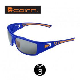 Lunettes sport CAIRN Sector Bleu / Orange Unisexe - Cat.3