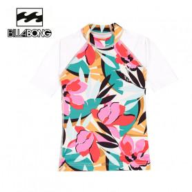 T-shirt U.V. BILLABONG Flower SS Blanc BB Fille