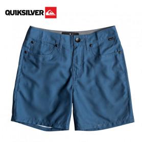 "Boardshort QUIKSILVER Nelson Surfwash 15"" Bleu Junior"