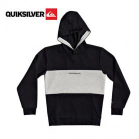 Sweat à capuche Quiksilver Next Levels Noir / Gris  Junior