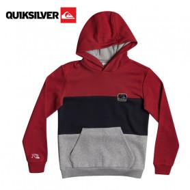 Sweat à capuche Quiksilver Tropical Blocks Rouge Junior