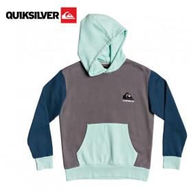 Sweat à capuche QUIKSILVER Heritage Gris / Vert / Bleu Junior