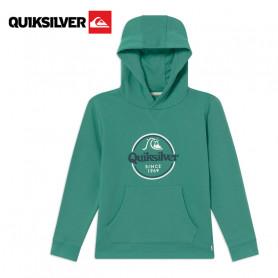 Sweat à capuche QUIKSILVER Kickflip Zone Vert Junior