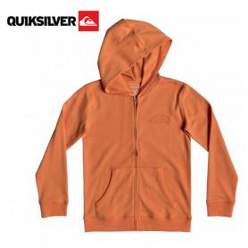 Sweat à capuche zippé QUIKSILVER Stone Age Romeo Orange Junior