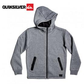 Sweat à capuche zippée QUIKSILVER Kurow Sherpa Gris Junior