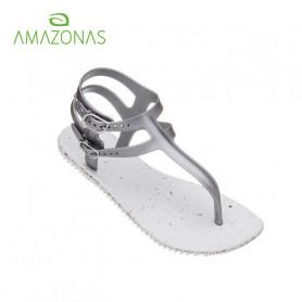 Tongs  AMAZONAS Fun Gladiator New Eco Juta Blanc Femme