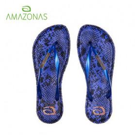 Tongs  AMAZONAS Fun Eco Leather Bleu Femme
