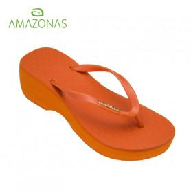 Tongs compensées AMAZONAS Fun Plat Orange Femme