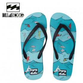 Tongs BILLABONG 1 Fish 2 Fish Bleu Homme