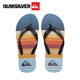 Tongs QUIKSILVER Molokai Flip Flops Bleu / Orange Junior