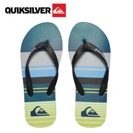 Tongs QUIKSILVER Molokai Flip Flops Bleu / Vert Junior